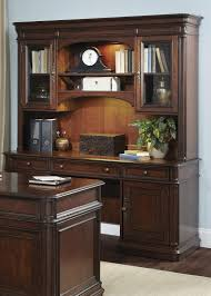 traditional credenza and hutch with framed glass doors by liberty