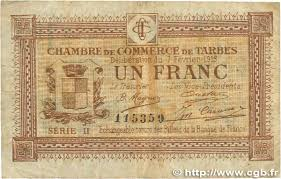 chambre des commerces tarbes 1 franc regionalism and miscellaneous tarbes 1915 jp 120 10