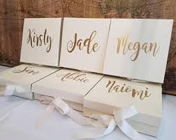 bridesmaid boxes bridesmaid box etsy