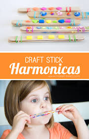 diy craft stick harmonicas a fun and quick craft for kids
