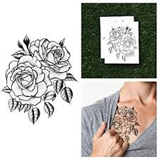 amazon com tattify traditional flower temporary tattoo twin