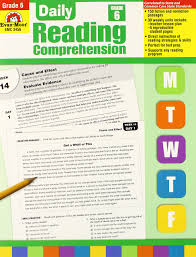 reading comprehension grade daily reading comprehension grade 6 0023472034564