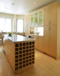 kitchen island with wine rack and seating kitchen island with
