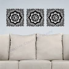 popular damask wall decal buy cheap damask wall decal lots from free shipping floral damask wall decal motif trio vinyl graphic damask wall art sticker home