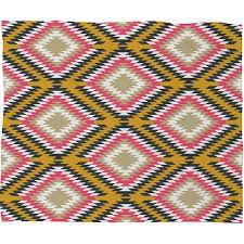 Woven Throw Rugs District17 Aztec Woven Fleece Throw Blanket Throw Blankets