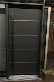 Custom Fiberglass Doors Exterior Oak Grain Fiberglass Door Painted With Routed Stainless Steel