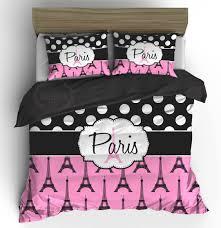 Eiffel Tower Comforter Custom Paris Bedding Set Pink Black Eiffel Tower Comforter Or