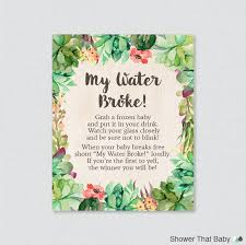 my water baby shower succulent baby shower my water sign printable