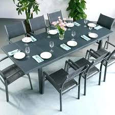 modern grey dining table grey outdoor dining set large 8 modern grey automatic extension