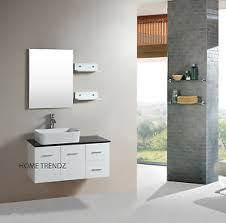 Wall Mounted Bathroom Cabinet by Floating 36 Inch White Cabinet Wall Mount Bathroom Vanity W Mirror
