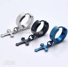 titanium stud earrings online cheap small cross titanium earrings in ear boys men men s