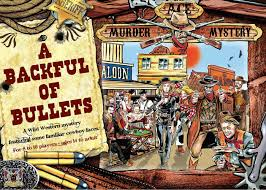 ace cowboy murder mystery dinner party game a backful of bullets