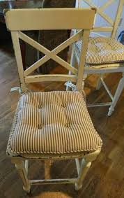 How To Make Seat Cushions For Dining Room Chairs How To Make Chair Cushions Yellow Patterned For One Side And