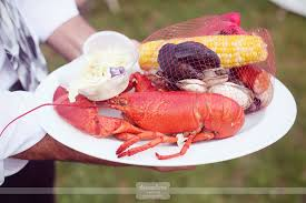 Cape Cod Clam Bake - traditional lobster bake dinner for wedding maine lobster corn