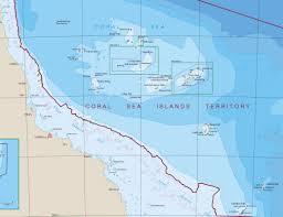 Sea Of Japan Map Coral Sea Islands Geoscience Australia