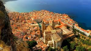 wallpapers sicily italy cefalu from above cities houses