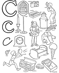 abc words coloring pages alphabet c alphabet coloring pages of
