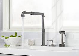 3 compartment sink faucet modern industrial kitchen sink and faucet throughout decor 3
