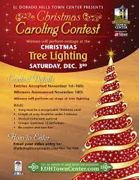 christmas tree lighting ceremony and christmas caroling performance