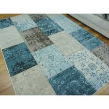 modern floor area rugs multi style patch boxes blue free shipping