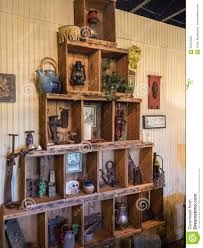 decorative items at a wine tasting room editorial photography