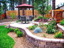 Nice Backyard Landscaping Ideas by Garden Ideas Bed Stupendous Design To Adorn Your With Stoned Large
