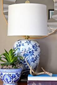 Antique Porcelain Table Lamps Blue And White Porcelain Table Lamps Foter