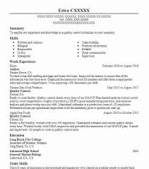 food processing quality control technician food processing resume examples food and beverage resumes
