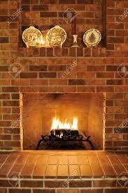 yule log fireplace binhminh decoration