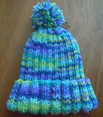 rib knit hat knitting pattern child s size