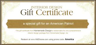 gift certificate design ideas interior design