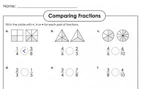 comparing fractions super teacher worksheets kelpies