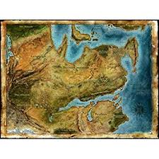 thedas map amazon com thedas map age fabric cloth rolled wall poster