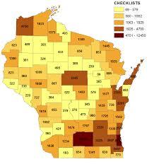 Dove Migration Map 2015 Wisconsin Ebird Year In Review Wisconsin Ebird