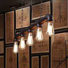 Lights For Dining Room Water Pipe Vintage Pendant Lights For Dining Room Bar Rust Red