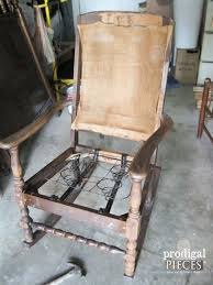 Vintage Rocking Chairs Upholstered Rocking Chair Redo Prodigal Pieces