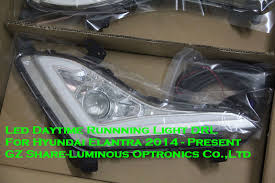 hyundai elantra daytime running lights high quality led daytime running light fog l drl for honda
