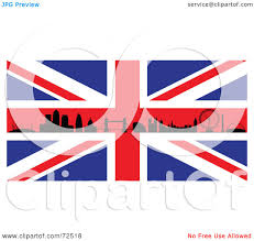England Flag Jpg Royalty Free Rf Clipart Illustration Of The Silhouetted London