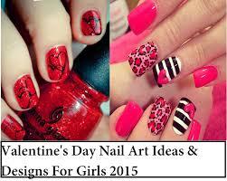 valentine day nail art designs face makeup ideas