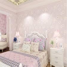 papier peint chambre romantique beibehang mode fille pastorale fleurs 3d non tissé 3d wallpaper