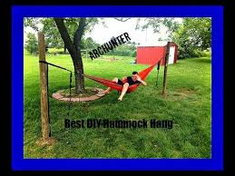 Hammock Backyard Best Diy Hammock Hang No Trees Needed Youtube