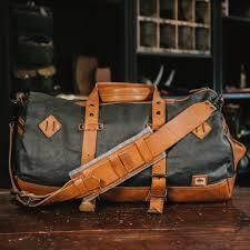 Rugged Duffel Bags Vintage Military Duffle Backpack Bag Waxed Canvas Tan