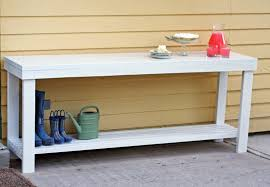 Patio Sideboard Table Running With Scissors Outdoor Console Table