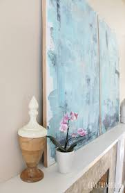 diy abstract art u0026 modern coastal family room tour city farmhouse