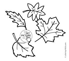 autumn coloring pages leaves for kids seasons coloring pages