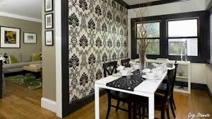 Wallpaper Designs For Dining Room Wallpaper Accent Walls U2013 A Modern Decorating Idea Youtube