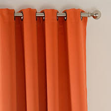 Orange Thermal Curtains Amazlinen Sleep Well Blackout Curtains Toxic Free Energy Smart