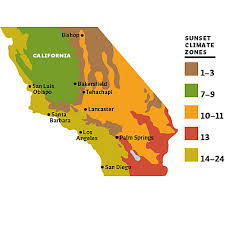 Climate Zones For Gardening - growing zones california sunset climate zones california nevada