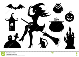 halloween background silhouettes collection of silhouette halloween characters stock photography