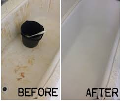 How To Lighten Stained Wood by How To Turn Your Bleach Stained Red Bathtub White Again 4 Steps